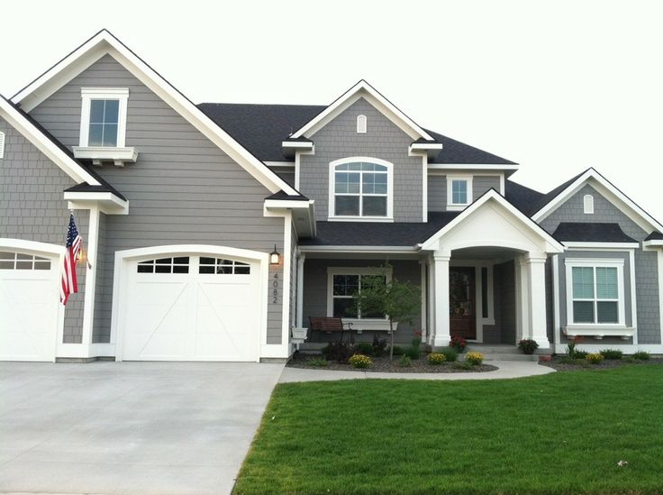 exterior paint colors with white trim photo - 5