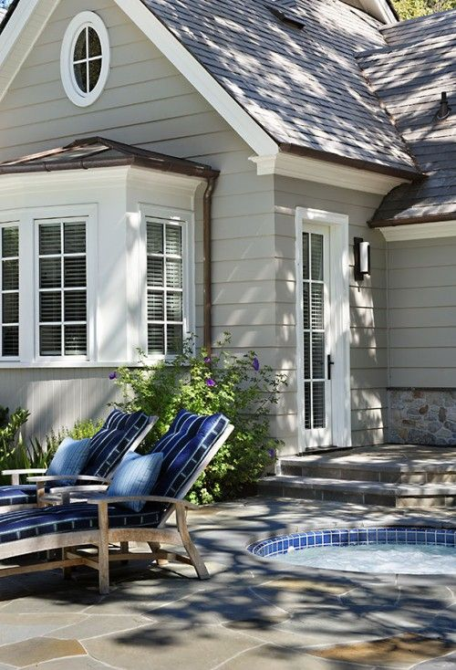 exterior paint colors with white trim photo - 7
