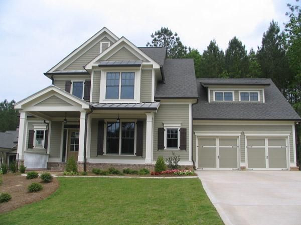 exterior paint colors with white trim photo - 8