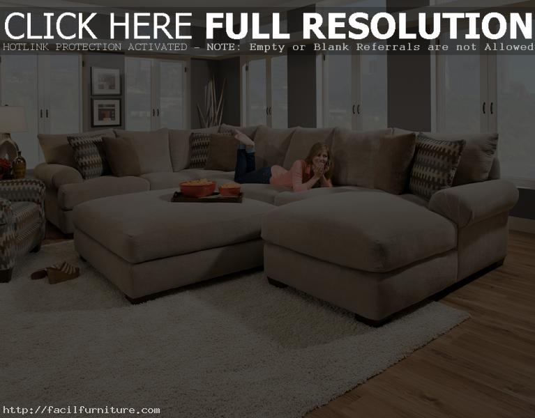 extra large sectional sleeper sofa photo - 7