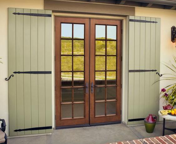 Fiberglass french doors exterior hawk haven - Exterior fiberglass french doors ...
