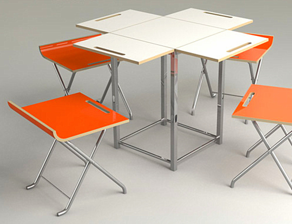folding kitchen table and chairs photo - 4