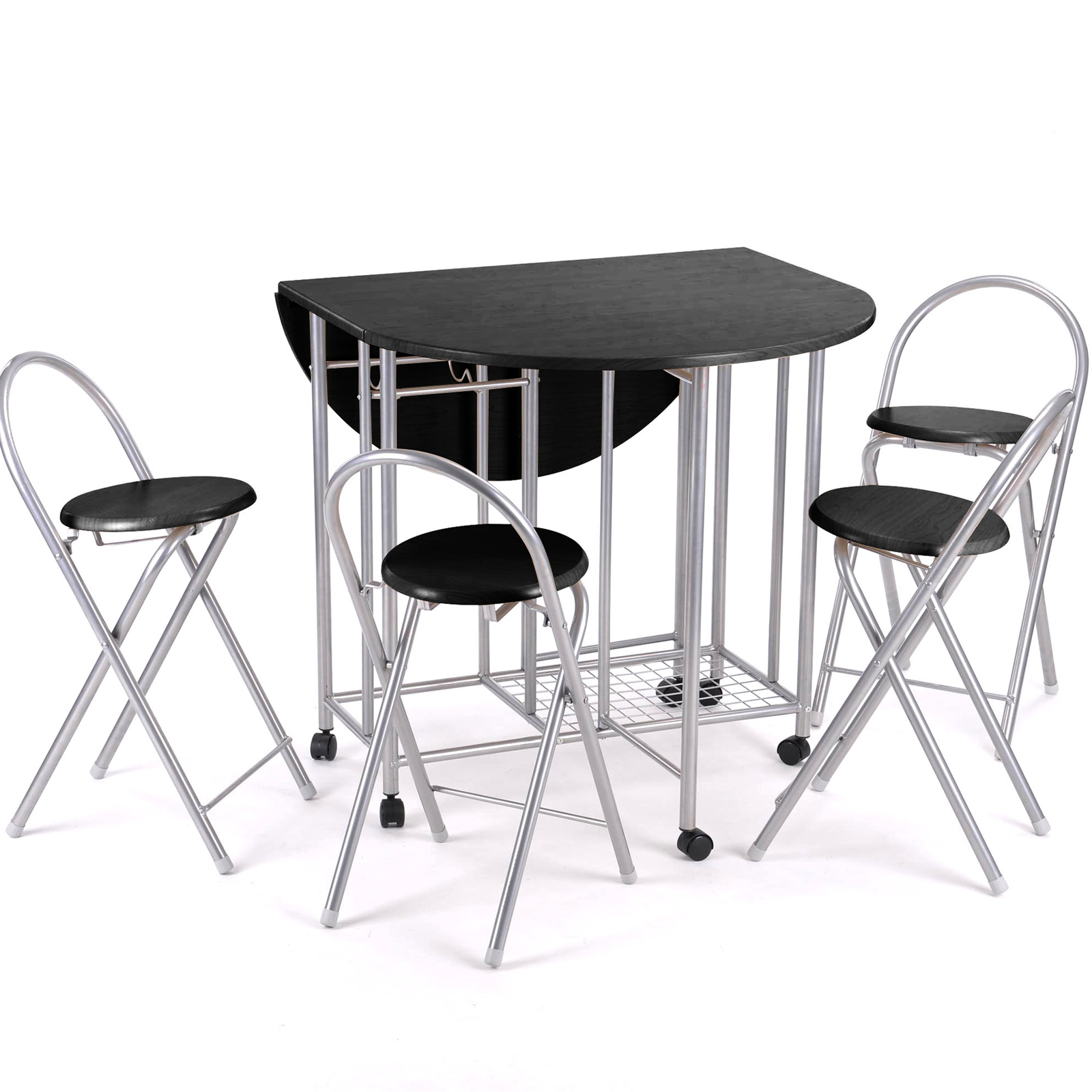 folding kitchen table and chairs set photo - 1