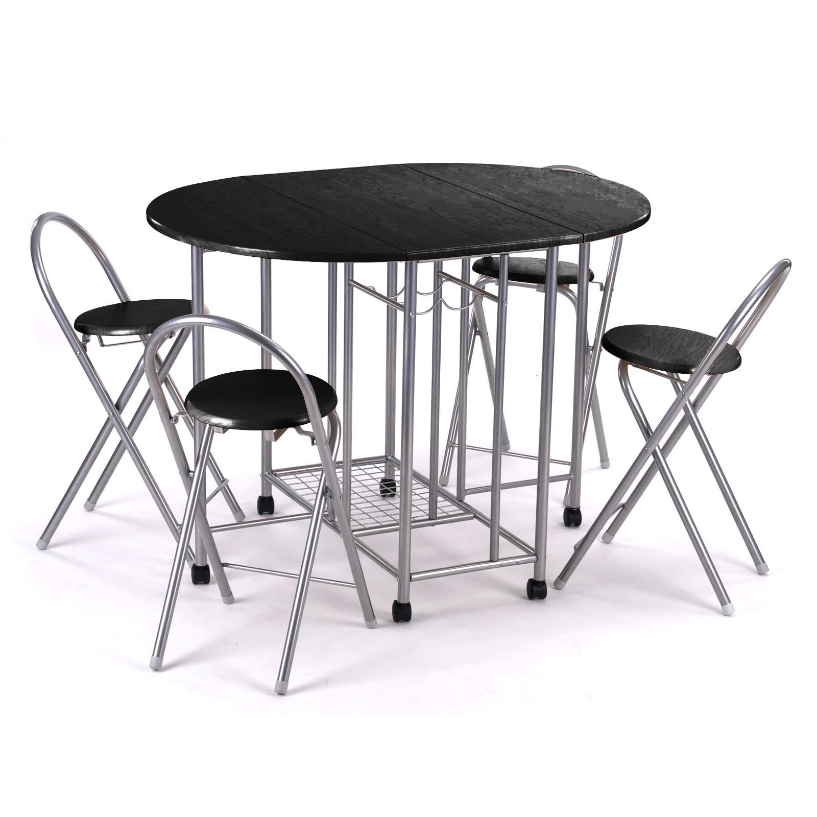 folding kitchen table and chairs set photo - 3