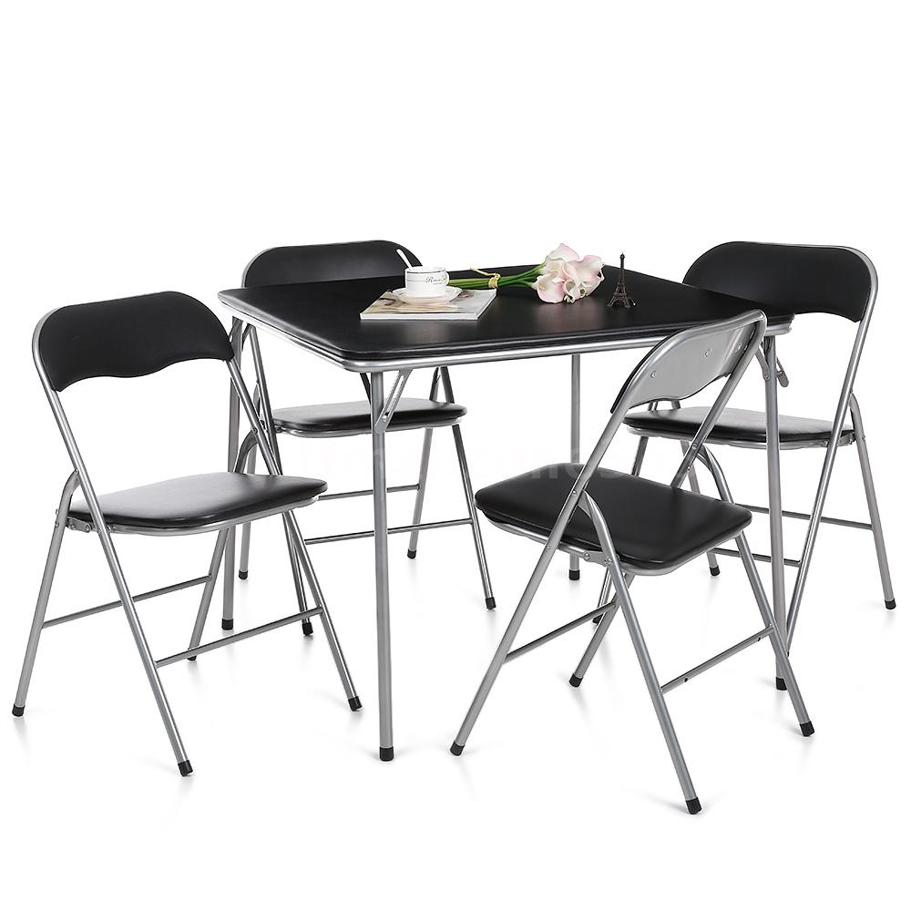 folding kitchen table and chairs set photo - 4