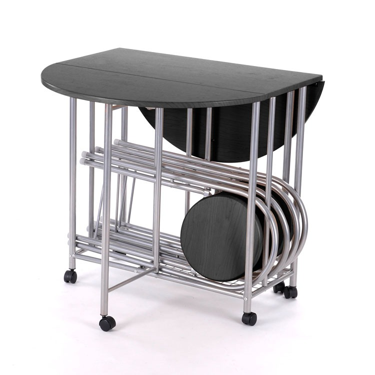 folding kitchen table and chairs set photo - 6