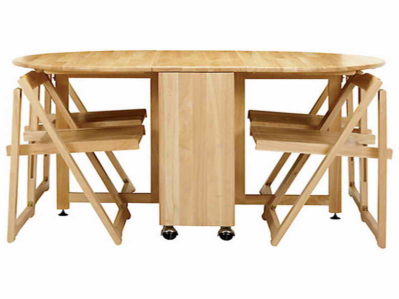folding kitchen table and chairs set photo - 7