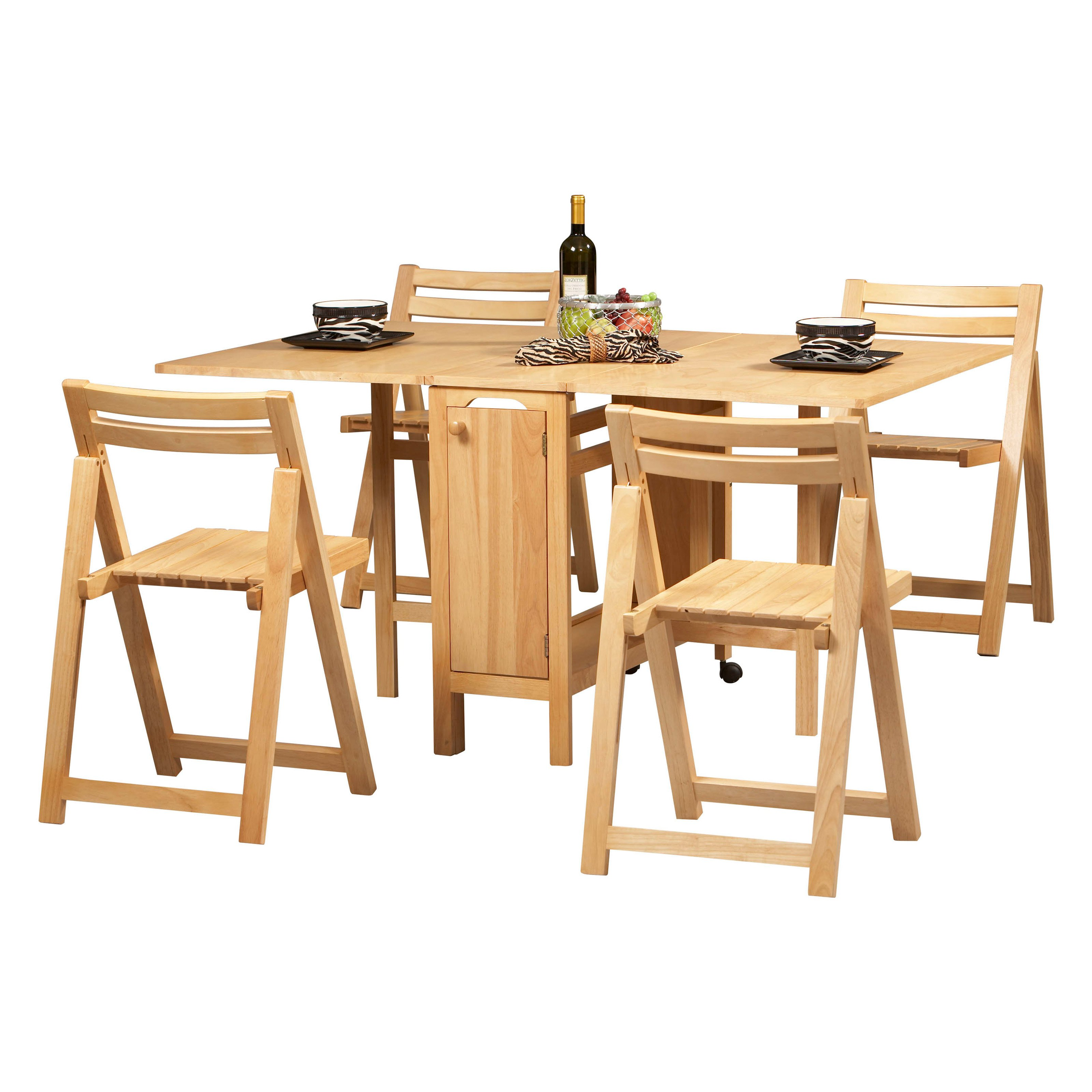 folding kitchen table and chairs set photo - 9