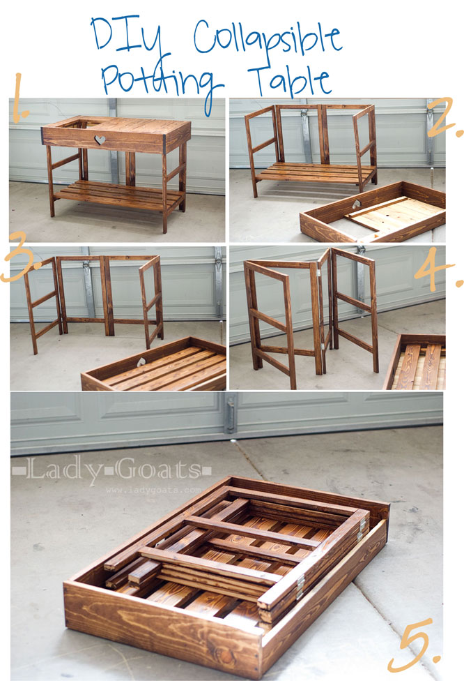 folding kitchen table diy photo - 1