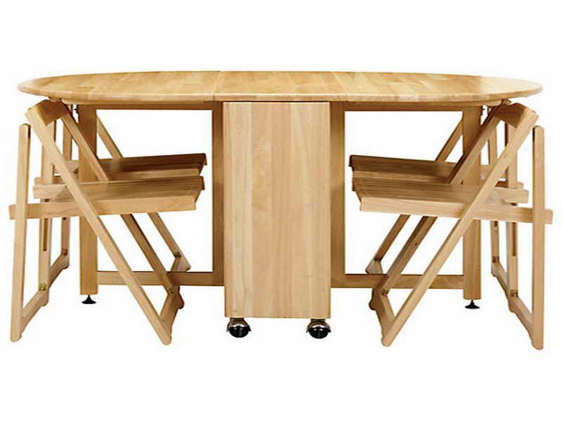 folding kitchen table sets photo - 2
