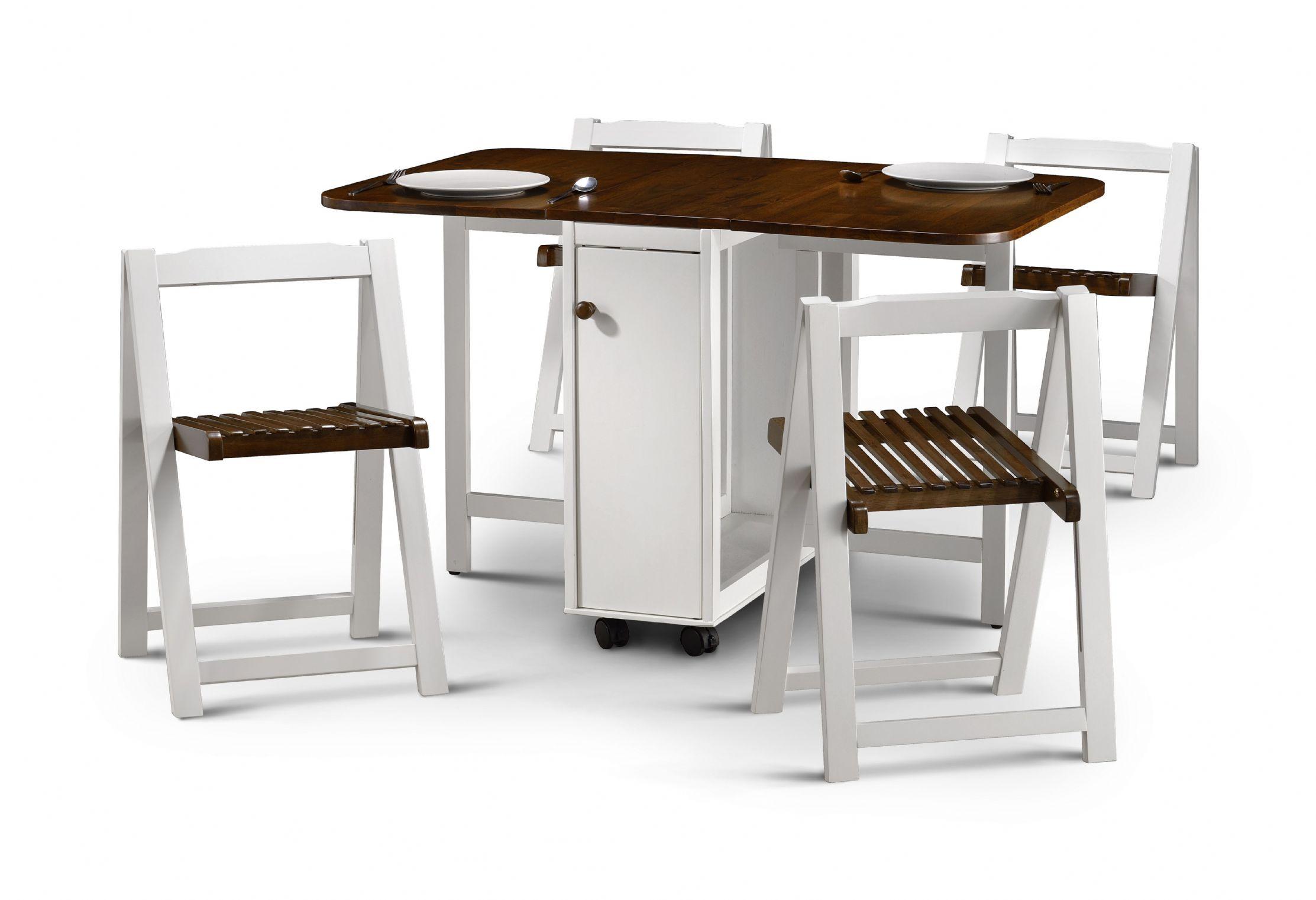 folding kitchen table sets photo - 9