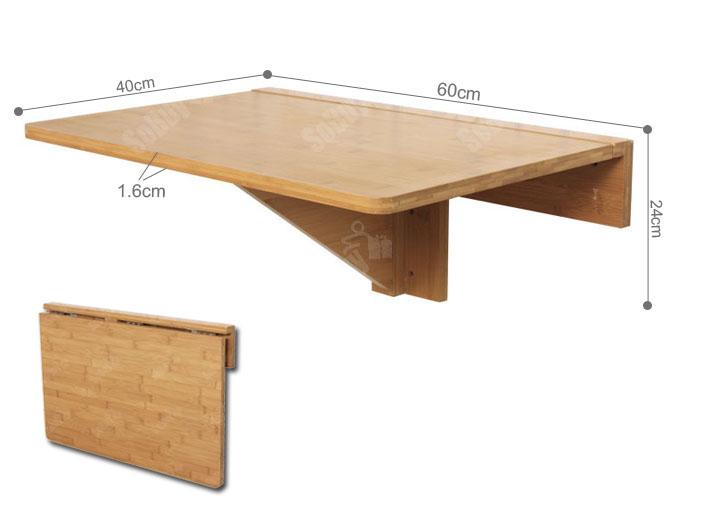 folding kitchen table wall mounted photo - 10