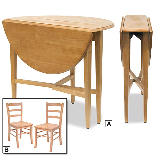 folding kitchen tables small spaces photo - 1