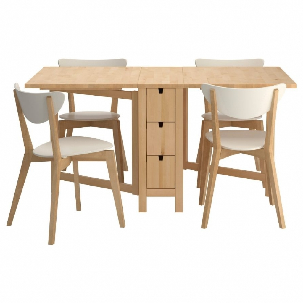 folding kitchen tables small spaces photo - 3