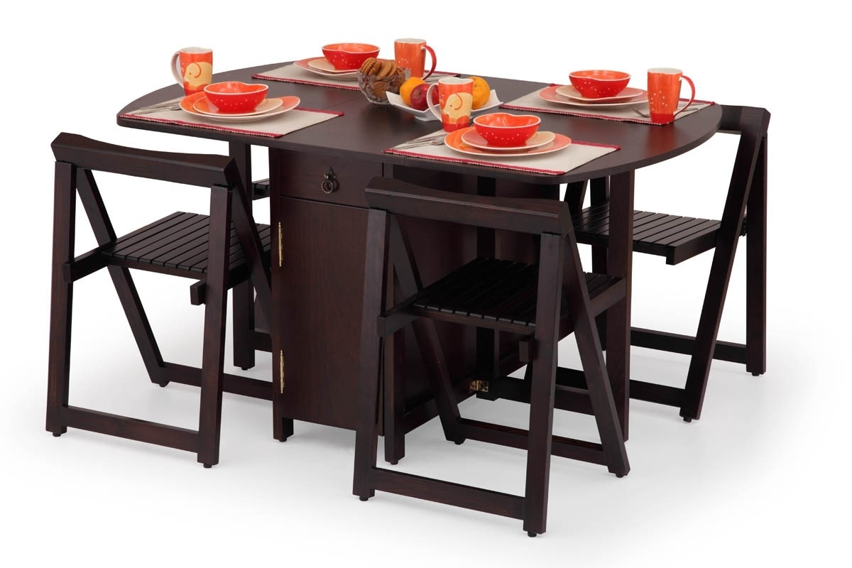 folding kitchen tables small spaces photo - 8
