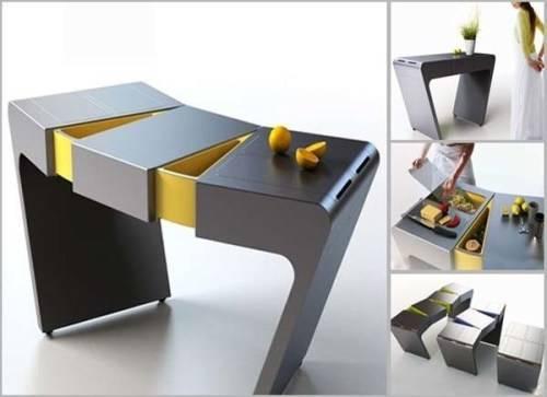 folding tea table designs photo - 4