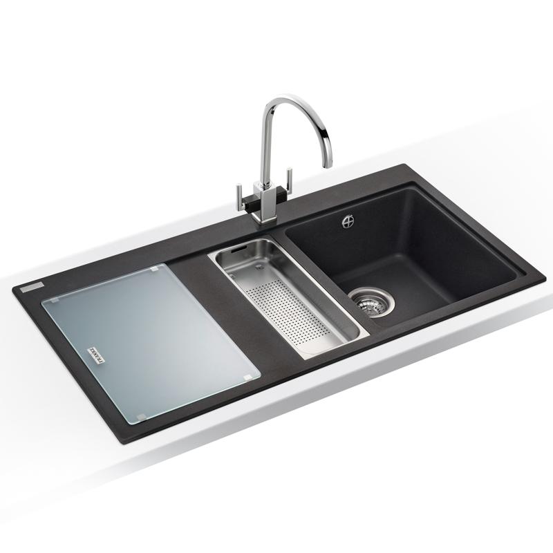 franke black granite sink cleaner photo - 10