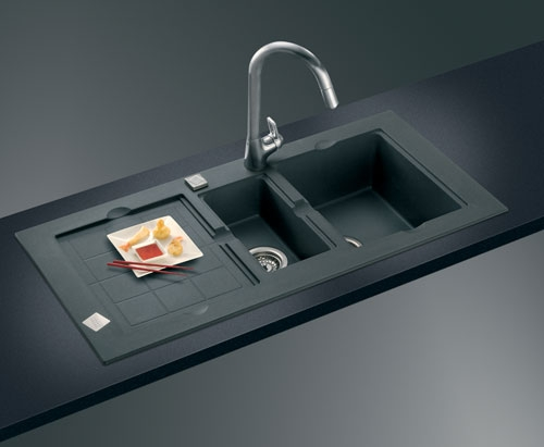 franke black granite sink cleaner photo - 2