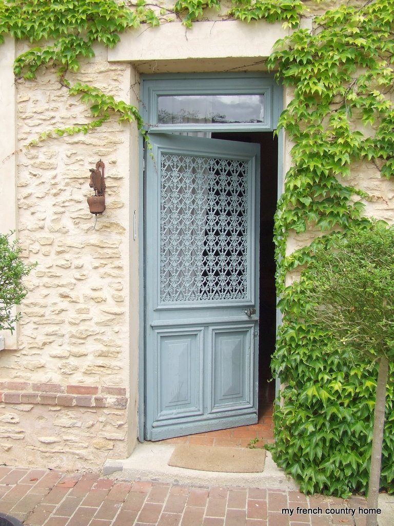 French country double entry doors   Hawk Haven