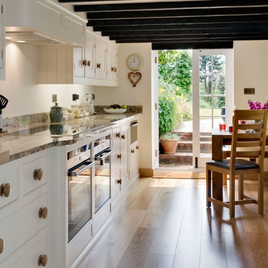 french country galley kitchen photo - 3
