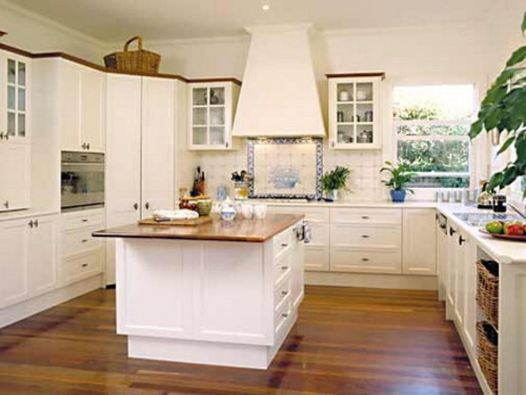 french country galley kitchen photo - 8