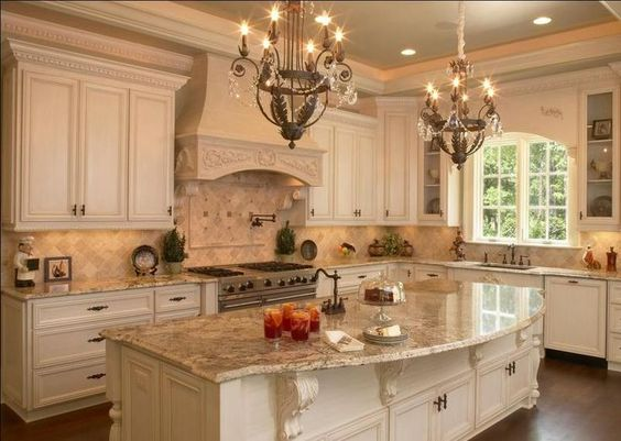 french country galley kitchen photo - 9