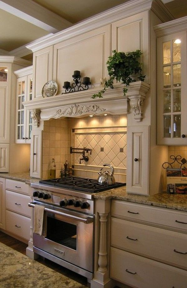 french country kitchen backsplash photo - 1