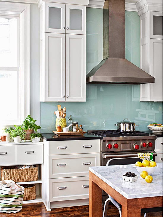 french country kitchen backsplash photo - 3