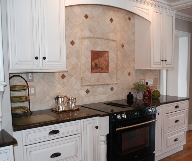 french country kitchen backsplash photo - 4