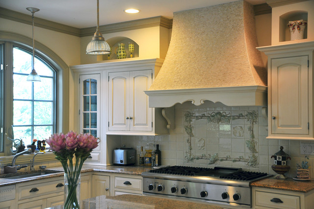 french country kitchen backsplash photo - 5