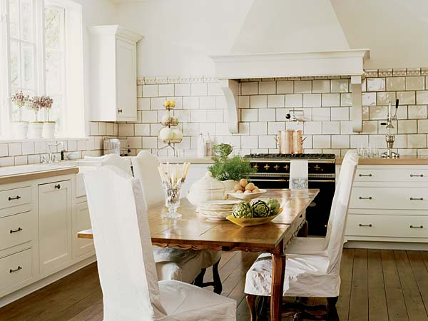 french country kitchen backsplash photo - 6