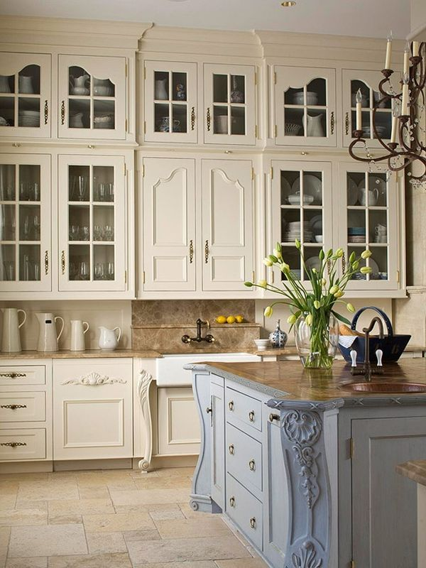 french country kitchen cabinets photo - 4