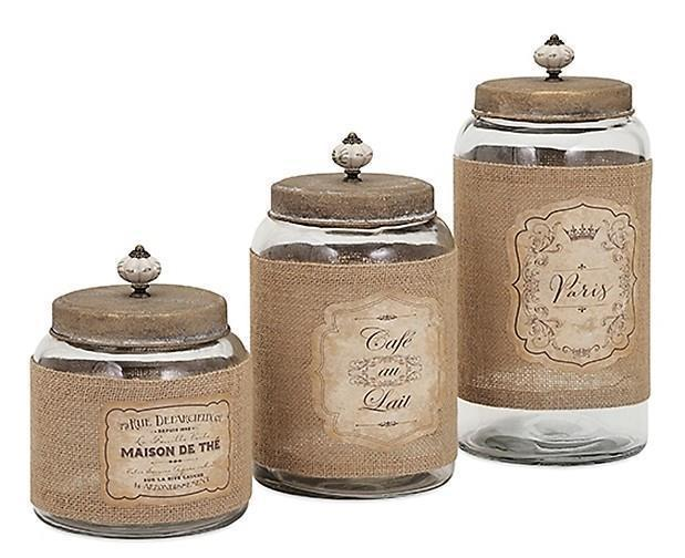 french country kitchen canisters photo - 4