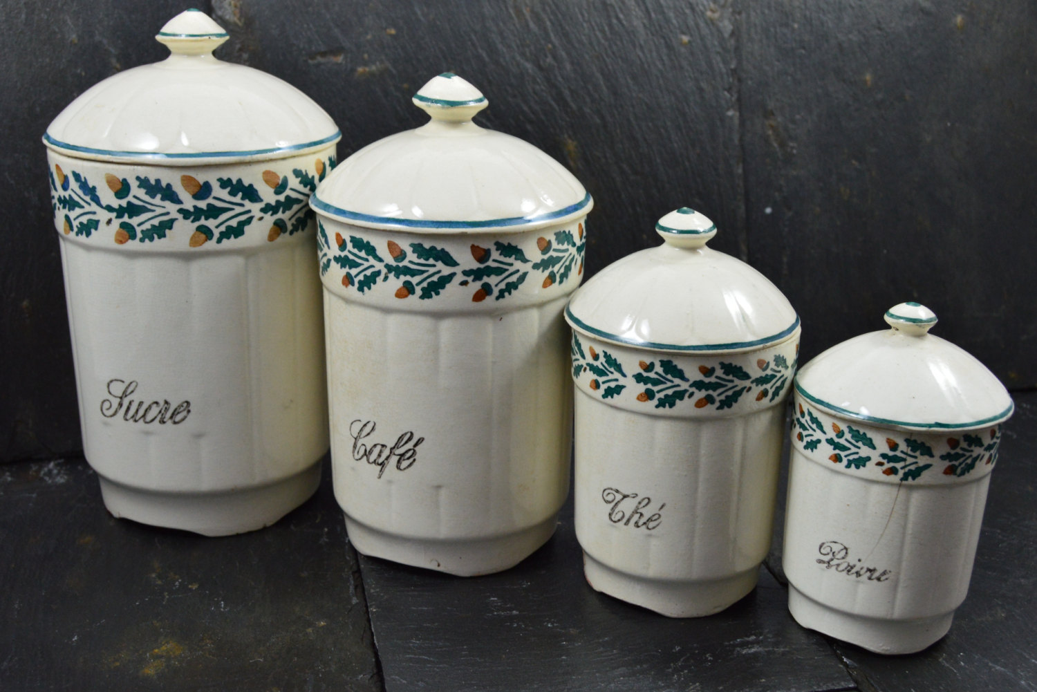 french country kitchen canisters photo - 8