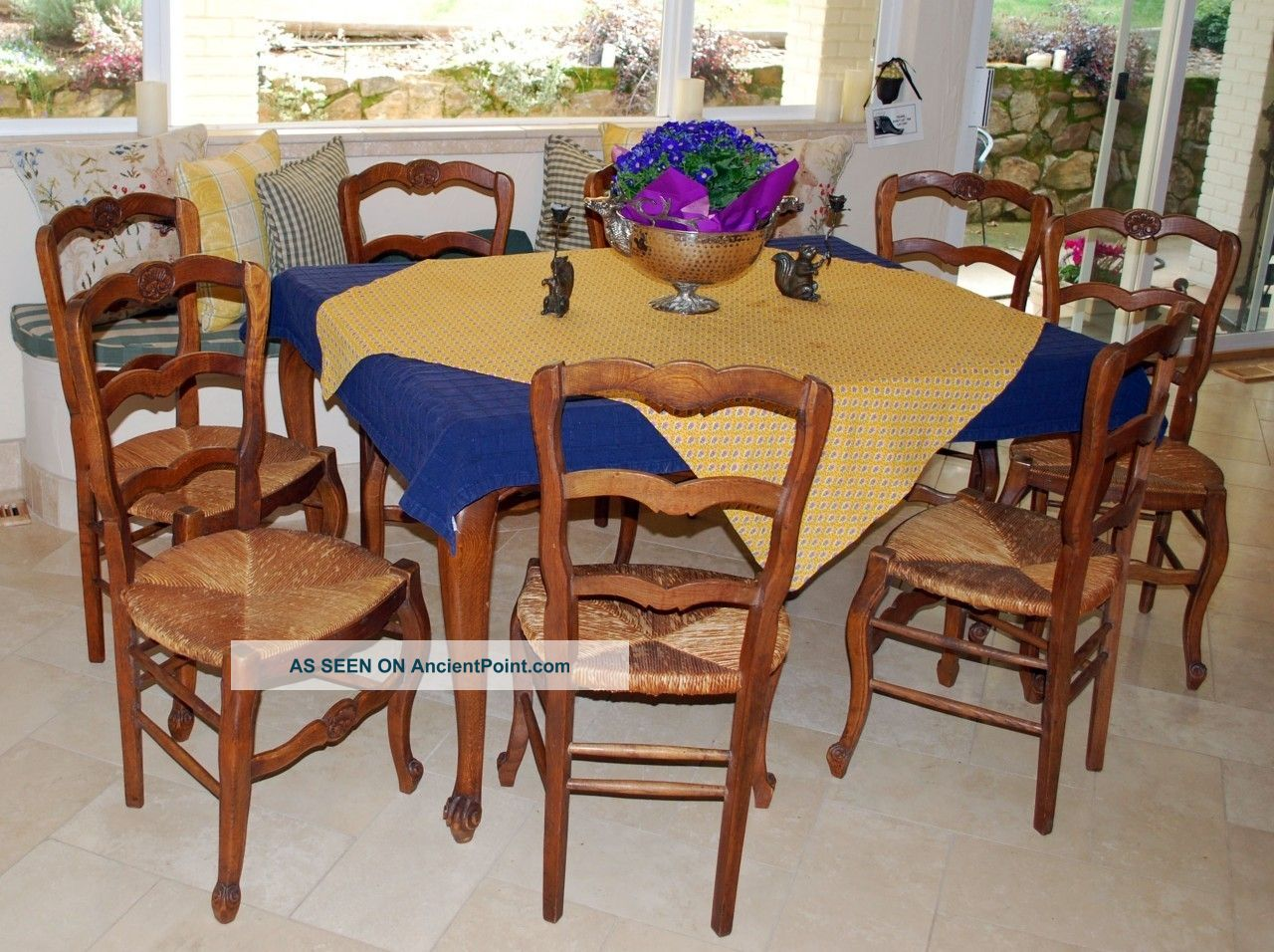 french country kitchen chairs photo - 7