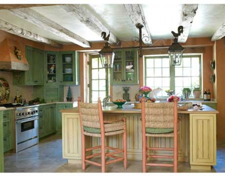 french country kitchen colors photo - 4