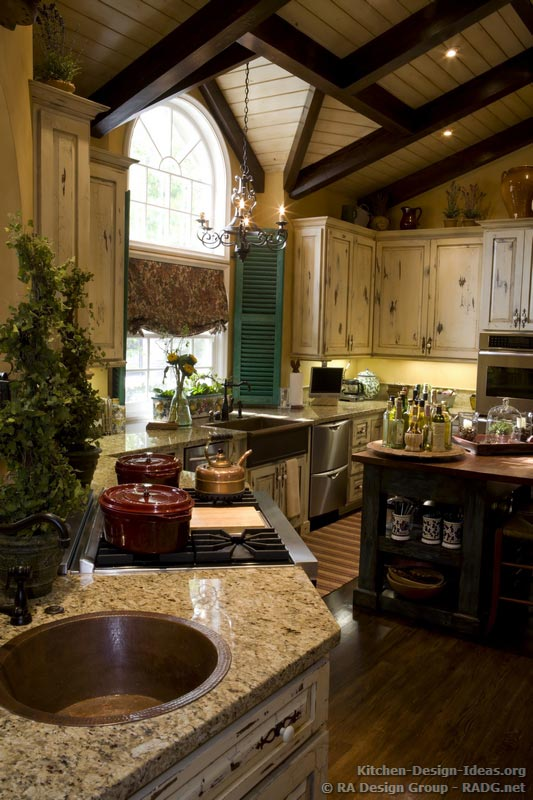 french country kitchen design photo - 2