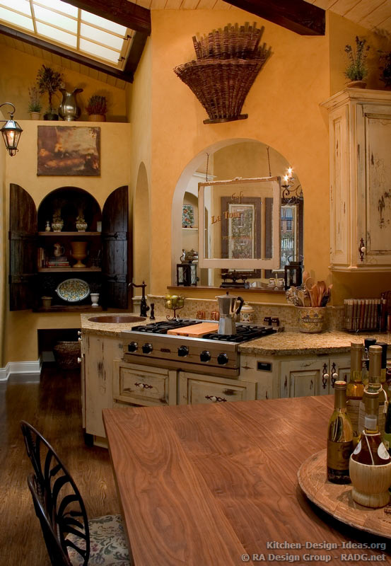 french country kitchen design photo - 6