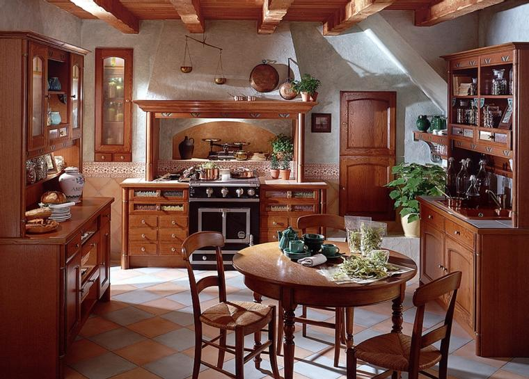 french country kitchen design photo - 8