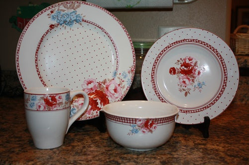 french country kitchen dishes photo - 2