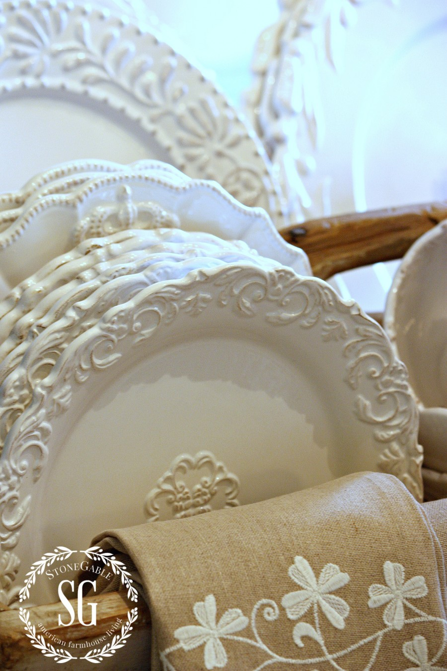 french country kitchen dishes photo - 6