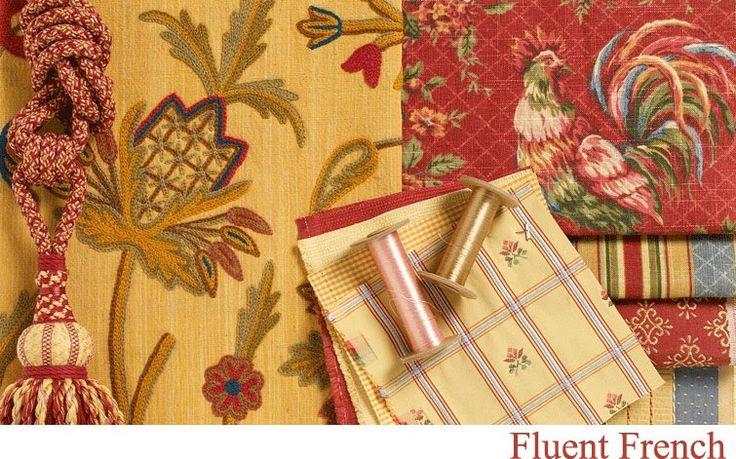 french country kitchen fabrics photo - 4