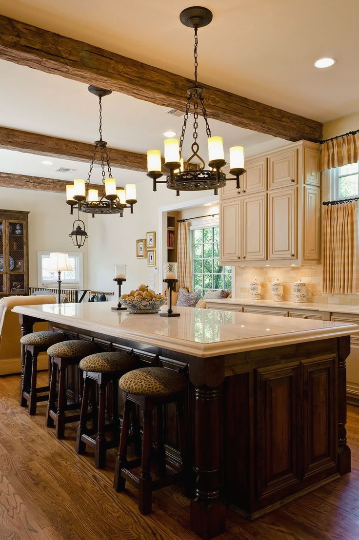 french country kitchen fixtures photo - 10