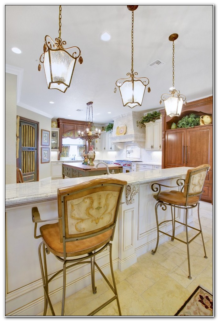 french country kitchen fixtures photo - 9