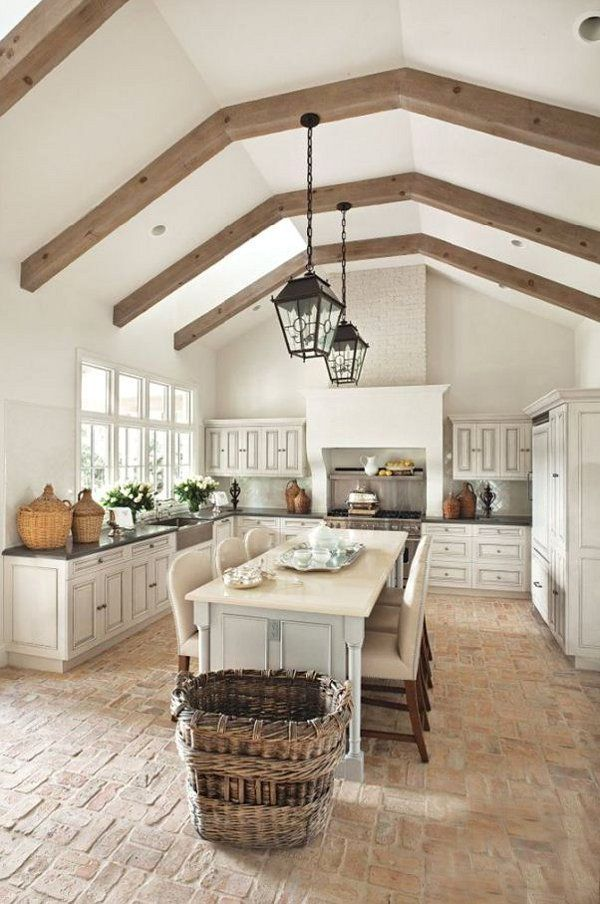 french country kitchen flooring photo - 3