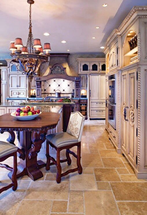 french country kitchen flooring photo - 6