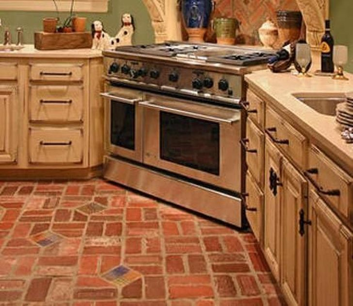 french country kitchen flooring photo - 7
