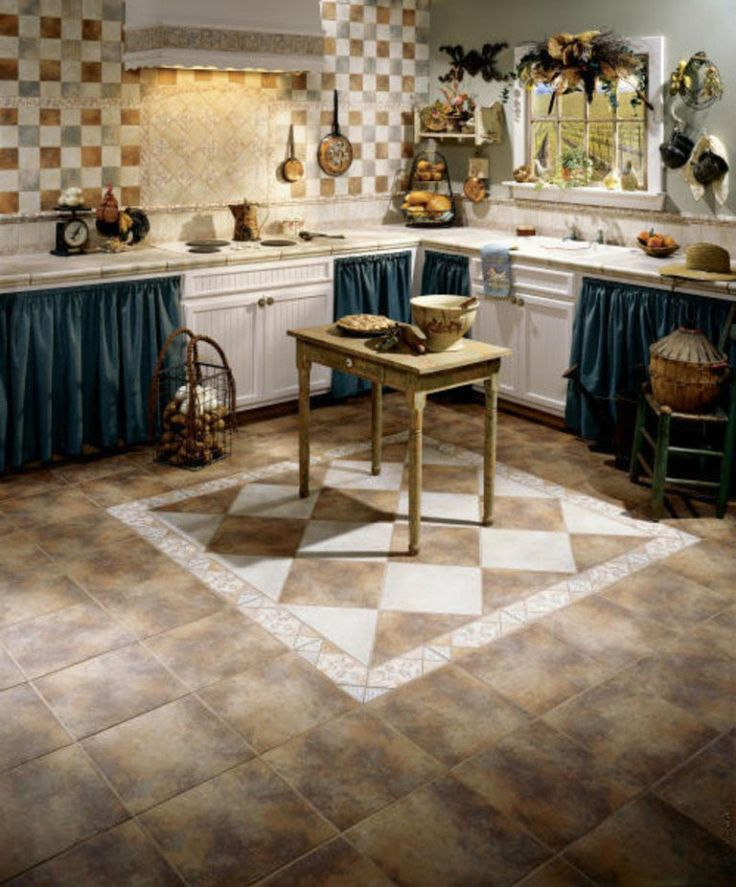 french country kitchen flooring ideas photo - 4