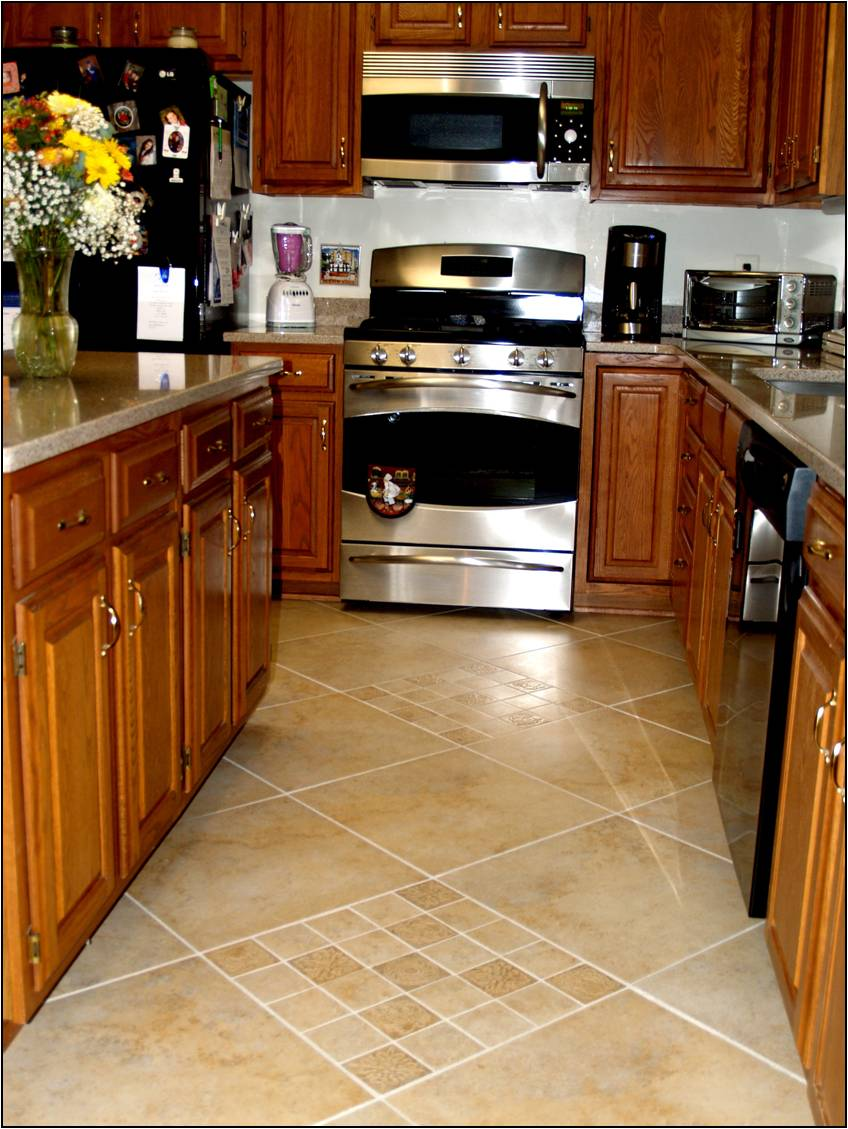 french country kitchen flooring ideas photo - 5