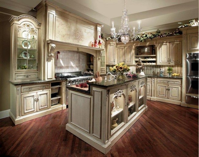 french country kitchen flooring ideas photo - 7